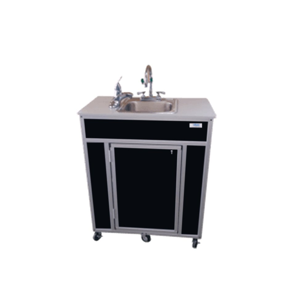 Monsam PSE-2001E Portable Eye and Face Washing Station, Black by Monsam Enterprises