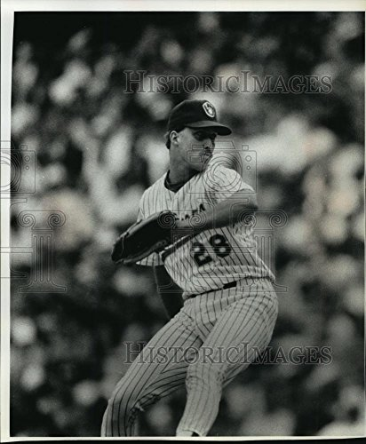Milwaukee Brewers Pitcher - 1991 Press Photo Milwaukee Brewers Relief Pitcher Doug Henry - mja84319