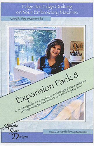 Edge-to-Edge Quilting on Your Embroidery Machine Expansion Pack 8