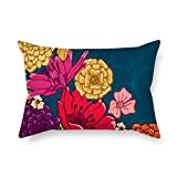 PaPaver flower throw pillow case 20 x 30 inches / 50 by 75 cm gift or decor for living room,teens boys,family,bar,lover,chair - double sides