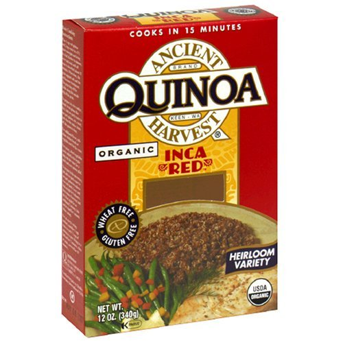 Ancient Harvest Organic Quinoa, Inca Red, 12-Ounce Boxes (Pack of 3)