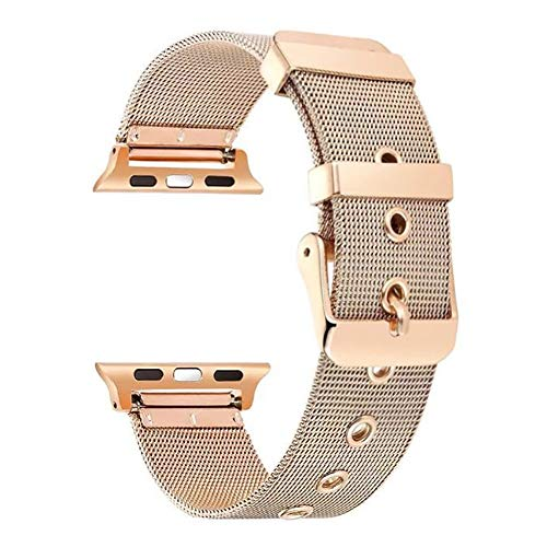 BONSTRAP Replacement for Apple Watch Band 38mm for Metal Apple Watch Straps Rose Gold Milanese Loop Apple Watch Bands 38mm