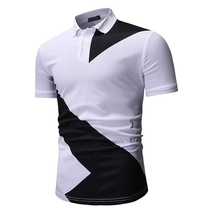 e06718451c3 POLP Polos de Golf para Hombre Camisetas y Tops Casual Manga Corta Camiseta  Soltero Diseño de Botones para Hombre Medias Rebecas Manga Corta Informal  ...