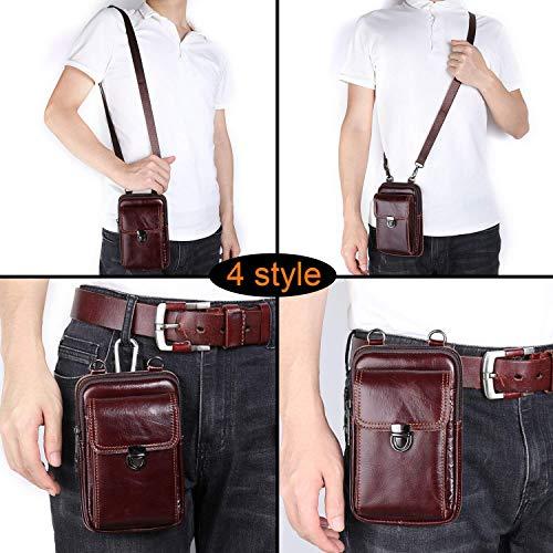 5c11b2494fcd Leather Belt Bag, Men Genuine Leather Wallet Cellphone Belt - Import ...