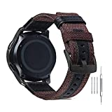 Premium Nylon NATO Canvas Fabric Replacement Watch Bands Canvas Watch Band Military Army Men Women - 20mm Brown
