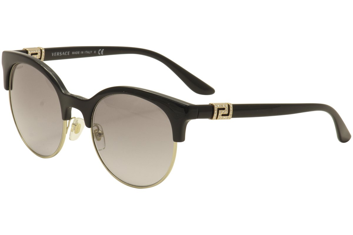 Versace Damen Sonnenbrille 0VE4326B 521213, Gold (Havana/Pale Gold/Browngradient), 53