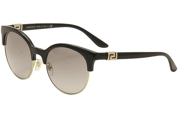 bbb0a5a4ce Amazon.com  Versace Women s VE4326B Black Pale Gold Grey Gradient ...