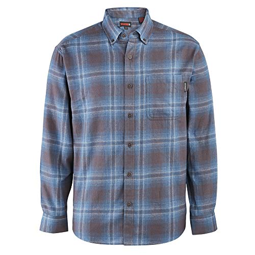 Wolverine Men's Hammond Long Sleeve Flannel Shirt, Night Sky Plaid, Large (Shirt Flannel Oz 5)