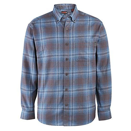 Wolverine Men's Hammond Long Sleeve Flannel Shirt, Night Sky Plaid, Large (Shirt Flannel Oz 5)