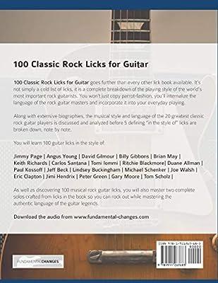 100 Classic Rock Licks for Guitar: Learn 100 Rock Guitar Licks In ...