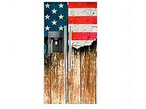Vinilo Frigorífico Americano Bandera Desgarrada Estados Unidos ...