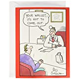 NobleWorks Jumbo - Funny Get Well Card: 'Your Wallet' with Matching Envelope Extra Large Version, 8.5 x 11 Inches (J4502)