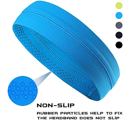Panija Non-Slip Yoga, Sport, Cooling Headbands That Can Absorb Sweat and Which Has A Very High Elasticity, Useful for Fitness, Gym, Great for Women and Men (Blue)