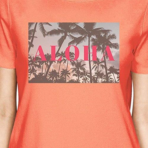 T Peach Size Shirt Shirt One PrintingFrauen 365 Aloha Kurzarm e9bEDYIWH2