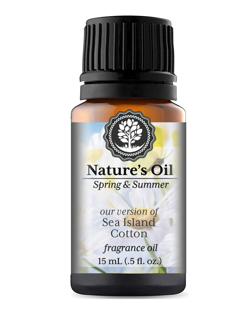 Sea Island Cotton Fragrance Oil (15ml) For Diffusers, Soap Making, Candles, Lotion, Home Scents, Linen Spray, Bath Bombs, Slime