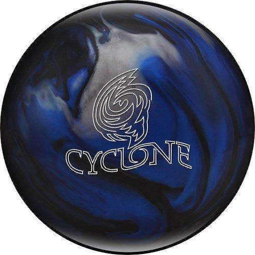 Ebonite Cyclone Bowling Ball, Black/Blue/Silver, 15 lb