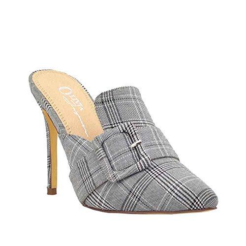 Olivia Jaymes Women's Dress Pump | Pointy Toe Buckle Mule | Slimmed-Down Stiletto Thin Heel Slip-on Pumps (8, (Pointy Toe Women Dress Pump)