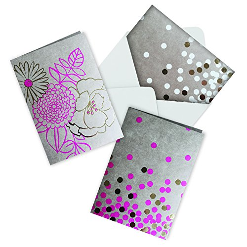 R-Polka Dots: 12 Blank Note cards W/ Envelope (4 cards of 3 styles) (Polka Note)