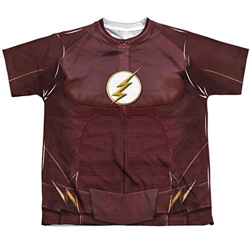 Flash Season Four Uniform Youth or Boy's Front Only Sublimated T (Small Only T-shirt)