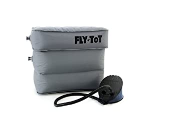 Cojín hinchable para avión Fly-Tot (gris, con bomba de pie): Amazon.es: Hogar