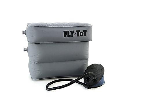 Cojín hinchable para avión Fly-Tot (gris, con bomba de pie ...