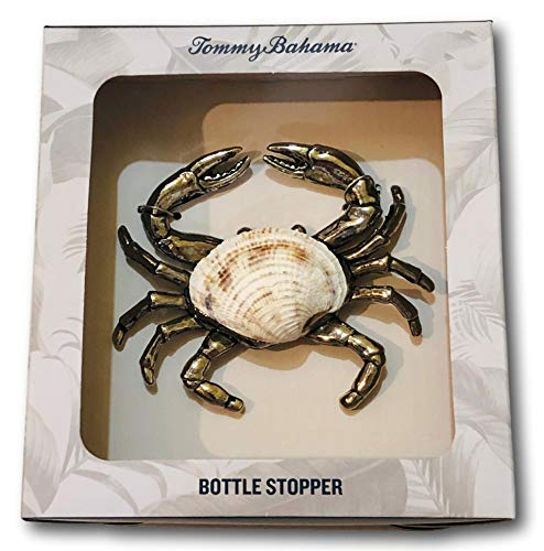 Tommy Bahama Metal Wine Bottle Stopper Crab with Seashell