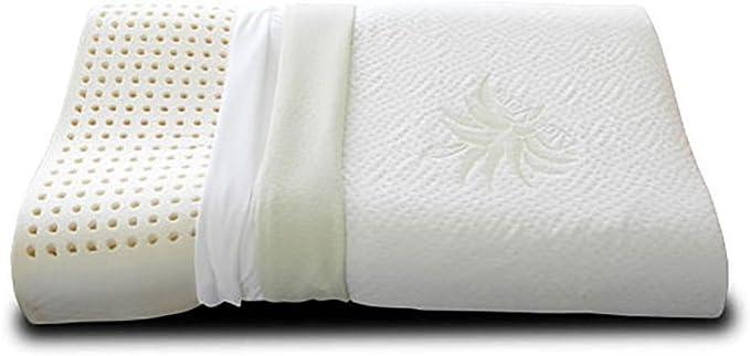 EVERGREENWEB MATERASSI /& BEDS Cuscino 100/% Fiocco di Memory Foam Saponetta Tessuto Aloe