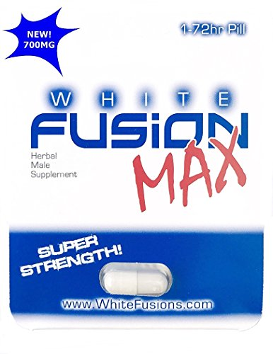 Whitefusion All Natural Super Strength Herbal Male Supplement - New (24 Capsules) by WhiteFusion