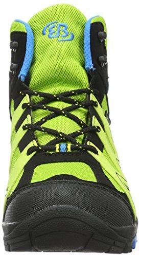 EB kids Vision High Kids - Zapatos de High Rise Senderismo Niños Verde (LEMON/SCHWARZ/BLAU)