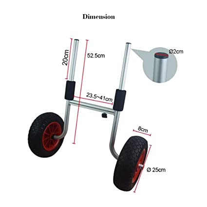 Gazechimp Carretilla Trole para Transportar Kayak Cojines EVA Barra Transversal Ajustable Accesorios de Deportes Aire Libre