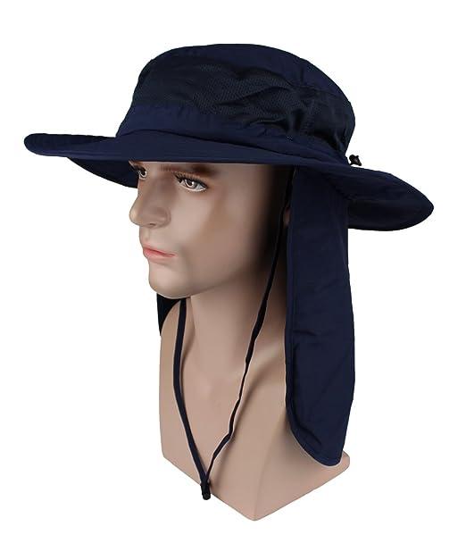 Sunscreen Hat Fisherman Hats Big Eaves Long Cloak Sunshade Anti UV Sun Cap  for Hiking c88ed3d1031
