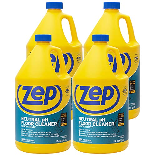 ZEP Neutral pH Floor Cleaner Concentrate 128 Ounces (Case of 4) ZUNEUT128