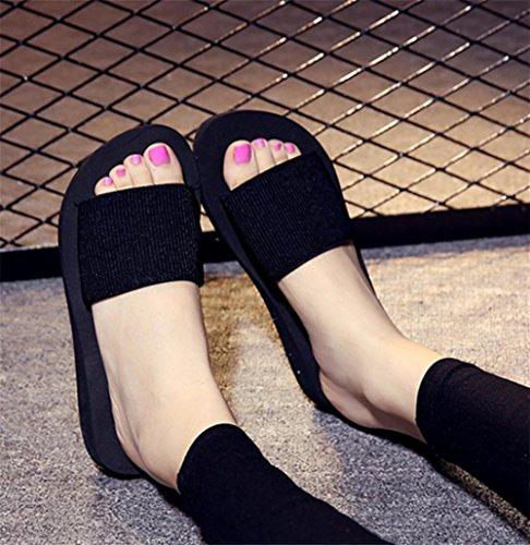 pengweiSommer dicke untere Strand Piste mit Sandalen Damen Hausschuhe