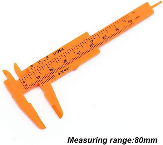 Sliding Vernier Caliper Plastic Measure Ruler Gauge Dual Scale JECz 150mm