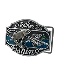 Pancy I'd Rather Be Fishing Belt Buckle