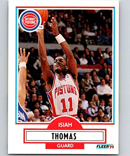 Basketball NBA 1990-91 Fleer #61 Isiah Thomas #61 NM+ Pistons