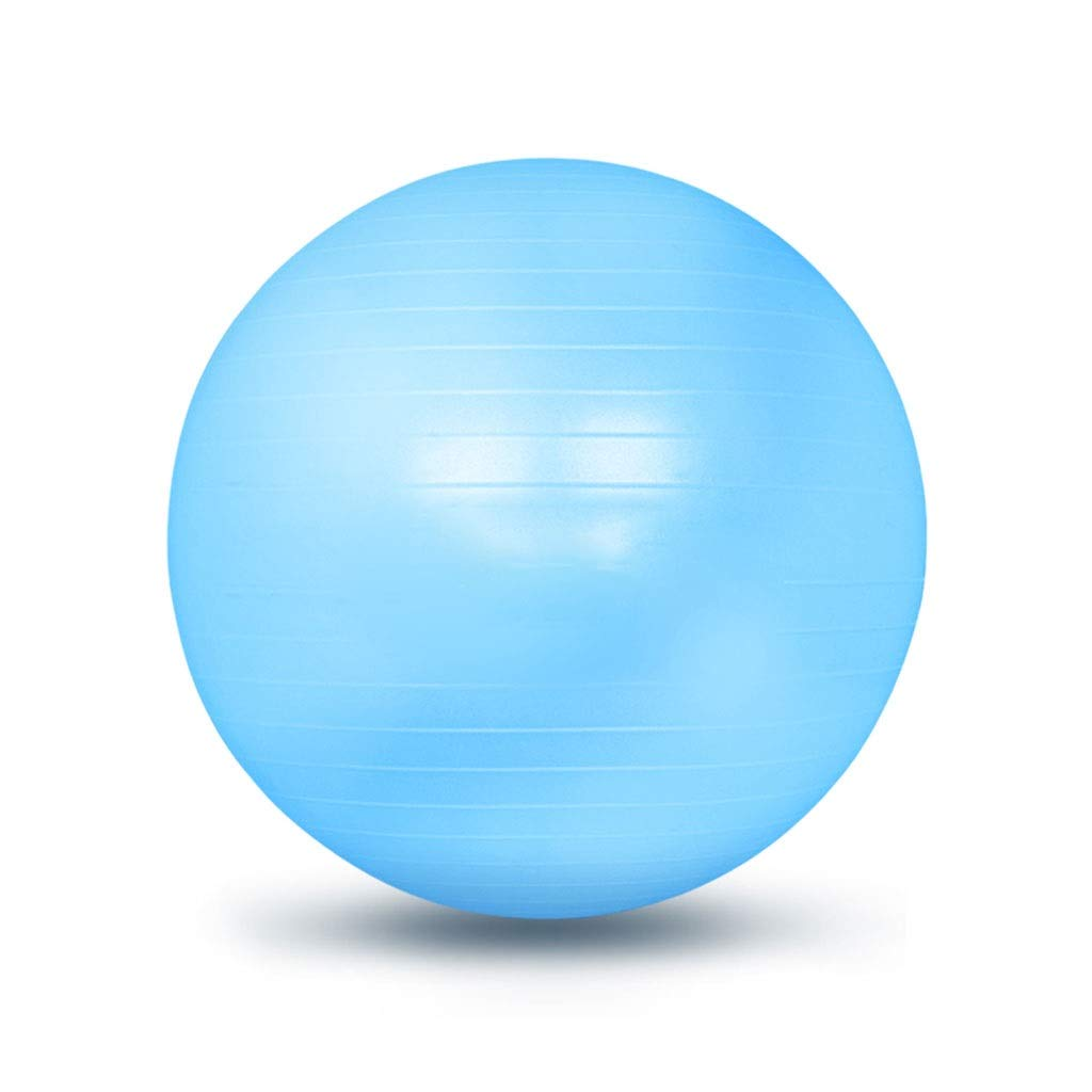Exercise Yoga Ball, Gym Ball with Quick Pump Anti-Slip Exercise Ball Heavy Duty Gym Ball for Physical Therapy Gym and Home Exercise (Color : Blue, Size : 55cm)
