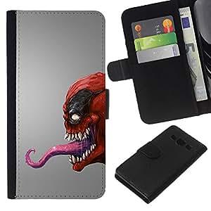 Red Venom Monster - la tarjeta de Crédito Slots PU Funda de cuero Monedero caso cubierta de piel Samsung Galaxy A3