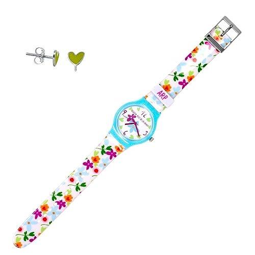 Juego Agatha Ruiz de la Prada reloj AGR202 pendientes plata [AB7237] - Modelo: AGR202: Amazon.es: Joyería