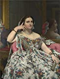 Canvas Prints Of Oil Painting 'Jean-Auguste-Dominique Ingres-Madame Moitessier,19th - Best Reviews Guide