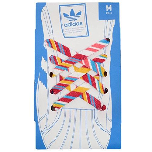 adidas Originals Unisex Lace Print Trainer Sneaker Shoe Laces - Multi HVblH