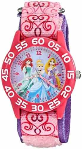 Disney Kids' W001992 Princess Analog Display Analog Quartz Pink Watch