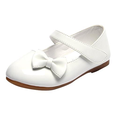 Lopetve Zapatos para niña Zapatillas Sandalias Merceditas Mary Janes Chicas Tamaño Blanco 24: Amazon.es: Zapatos y complementos