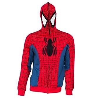 Spiderman Cremallera completa con capucha del traje de X ...