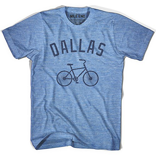 Dallas Vintage Bike T-shirt, Athletic Blue, - Cycling Dallas Teams