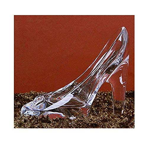 Girl Glass Ornament - Crystal Cinderella High-Heeled Shoes Ornament Gifts Transparent Glass Decoration for Girl Coming-of-Age Ceremony Birthday Gifts