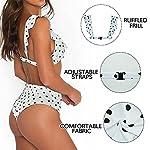 Adicloz-Bikini-Donna-Vita-Alta-Ruffle-Bandeau-Punto-donda-Scollo-a-V-Swimsuit-Bikini-Push-Up-Halter-Costumi-da-Bagno-per-Il-Controllo-della-Pancia-Monokini-con-Arricciatura-Bikini-High-Waisted