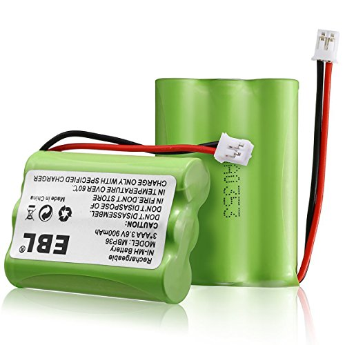 2 Pack EBL TFL3X44AAA900 Motorola Baby Monitor Batteries 3.6V 900mAh Ni-MH for Motorola MBP36 MBP27T MBP33 MBP33S MBP33PU MBP36S MBP36PU by EBL (Image #7)
