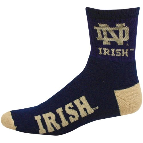 (NCAA Notre Dame Fighting Irish Team Quarter Socks, Large)