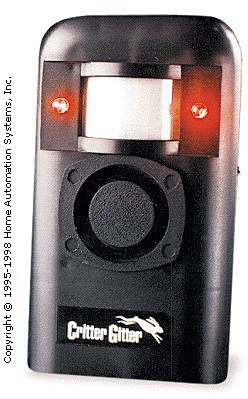 Amtek Critter Gitter - Animal Repeller with Alarm and Flashing Device